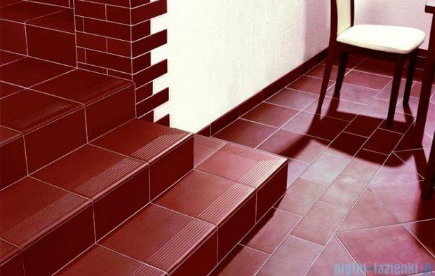 Paradyż Natural brown klinkier stopnica prosta 30x30