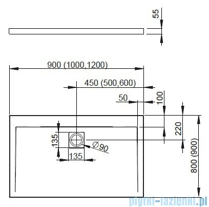 Radaway Euphoria KDJ+S Kabina przyścienna 80x90x80 prawa szkło przejrzyste + brodzik Argos D + syfon 383020-01R/383051-01/383031-01/4AD89-01