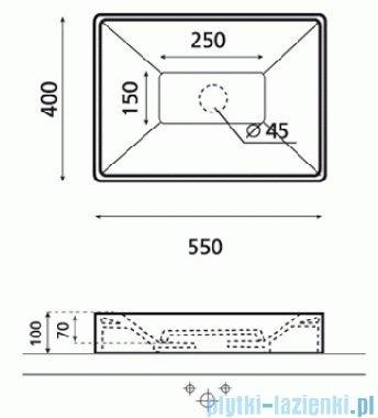 Bathco umywalka nablatowa Quadro 55x40 cm 4039