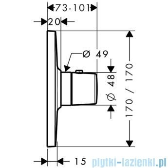Hansgrohe Axor Bouroullec Bateria termostatyczna podtynkowa 19700000