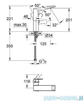 Grohe Allure Brilliant bateria umywalkowa DN 15 bez zestawu odpływowego chrom 23112000