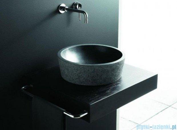 Bathco umywalka kamienna nablatowa Bali Negro 42x13 cm 00304