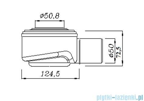 Green Line odpływ liniowy 90 cm ruszt sunny + syfon GL900SU