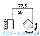 Paffoni uchwyt punktowy ruchomy Level ZSUP025