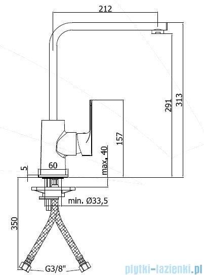 Paffoni  Bateria kuchenna wysoka SLY chrom SY180CR