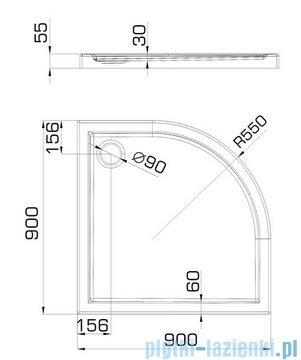 Omnires Manhattan kabina 2-skrzydłowa 3M™ Easy Clean 90x90cm szkło przejrzyste+brodzik ADF94XLUX-T/3.064
