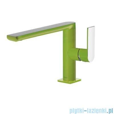 Tres Loft Colors Bateria umywalkowa z korkiem automatycznym kolor zielony 200.205.01.VE.D