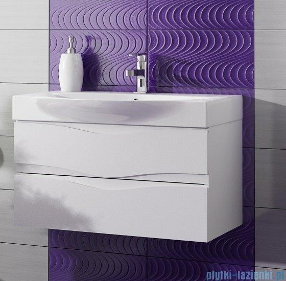 Antado Wave szafka z umywalką 98x37cm biały połysk VA-140/100/2-WS + UCS-LY-100