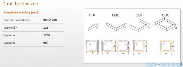 Sanplast Obudowa brodzika OBL 90x170x12,5 cm 625-401-1600-01-000