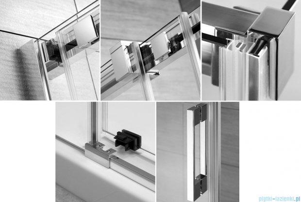 Radaway Espera DWJ Drzwi wnękowe przesuwne 120 prawe szkło przejrzyste + brodzik Argos D + syfon 380112-01R/4AD812-01