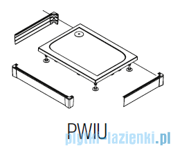 SanSwiss PWIU Obudowa brodzika 3-stronna 80x140cm czarny mat PWIU801408006