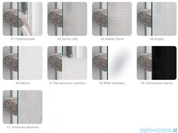SanSwiss Pur PDT4P Ścianka wolnostojąca 90cm profil chrom szkło Krople PDT4P090144