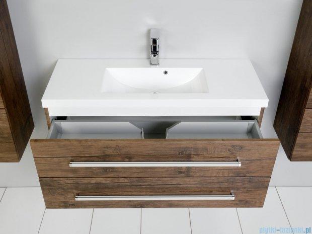 Antado Spektra szafka z umywalką, wisząca 100x39x40 stare drewno FDF-C-442/10/2GT-50 + UMMC-1000x390