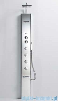 Novellini Aqua 1 Cascata 1 panel prysznicowy biały bateria mechaniczna CASC1VM-A