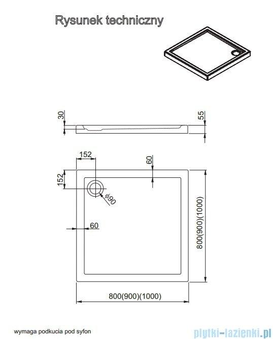 Aquaform Vico brodzik kwadratowy superniski 100x100cm 201-08006