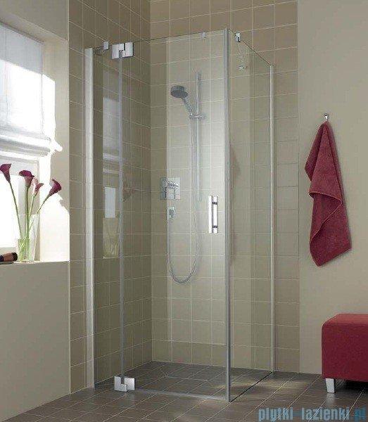 Kermi Filia Xp Drzwi wahadłowe z polem stałym, lewe, szkło przezroczyste, profile srebrne 100x200cm FX1WL10020VAK