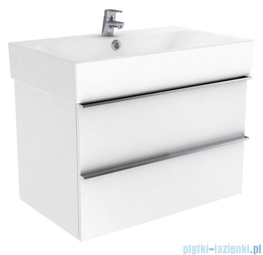 New Trendy Kubiko szafka wisząca podumywalkowa + umywalka 75 cm antracyt połysk ML-PI175