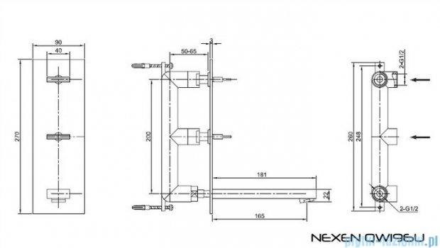 Kohlman Nexen-S Podtynkowa bateria umywalkowa SQW196U