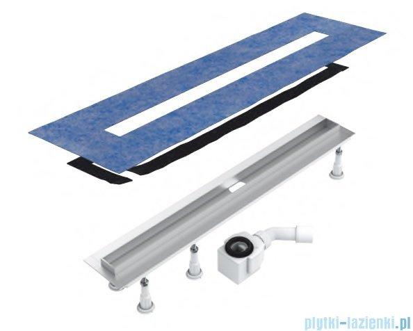 Schedpol Slim Lux odpływ liniowy z maskownicą Plate Slim do zabudowania płytkami 90x3,5x9,5cm OLP90/SLX