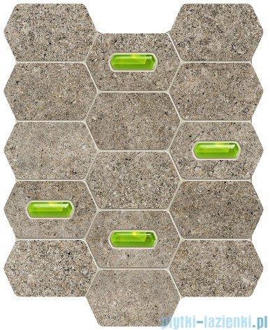 Tubądzin Lemon Stone grey mozaika ścienna 25x29,8