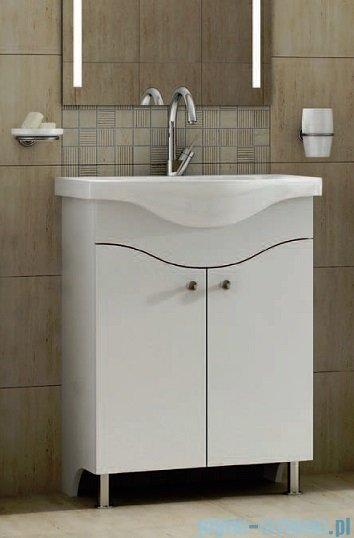 Antado Meva szafka podumywalkowa z umywalką 60x34x81 biały połysk BWM-140/65GT-WS+UCS-AL-65