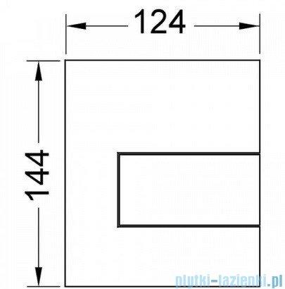 Tece Przycisk spłukujący do pisuaru z metalu Tecesquare chrom połysk 9.242.811