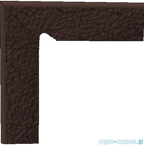Paradyż Natural brown duro klinkier cokół schodowy lewy 8x30