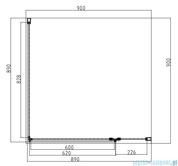 Omnires Manhattan kabina kwadratowa 90x90cm szkło przejrzyste+brodzik ADC90X/3.061