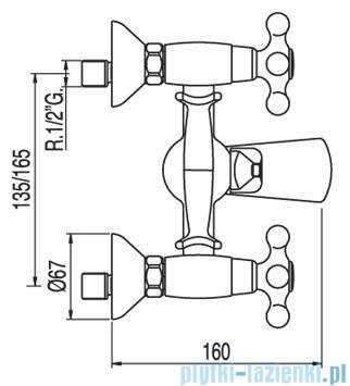 Tres Clasic-Tres Bateria wannowa ceramiczna 1.32.176