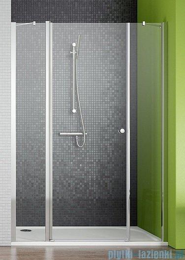 Radaway Eos II DWJS Drzwi prysznicowe 120x195 lewe szkło przejrzyste + brodzik Argos D + syfon 3799454-01L/4AD812-01