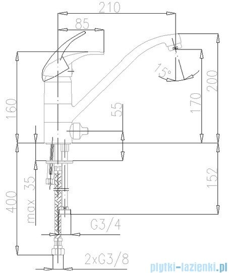KFA Nefryt bateria zlewozmywakowa stojąca, kolor chrom 503-813-00