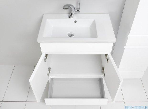 Antado Gabi szafka z umywalką 68x40cm biały połysk  GBY-140/70-WS+UCS-IS-70