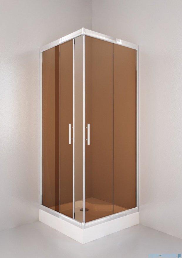 Sea Horse Sigma kabina natryskowa narożna kwadratowa, 80x80, szkło: brązowe,   BK001/3/QB