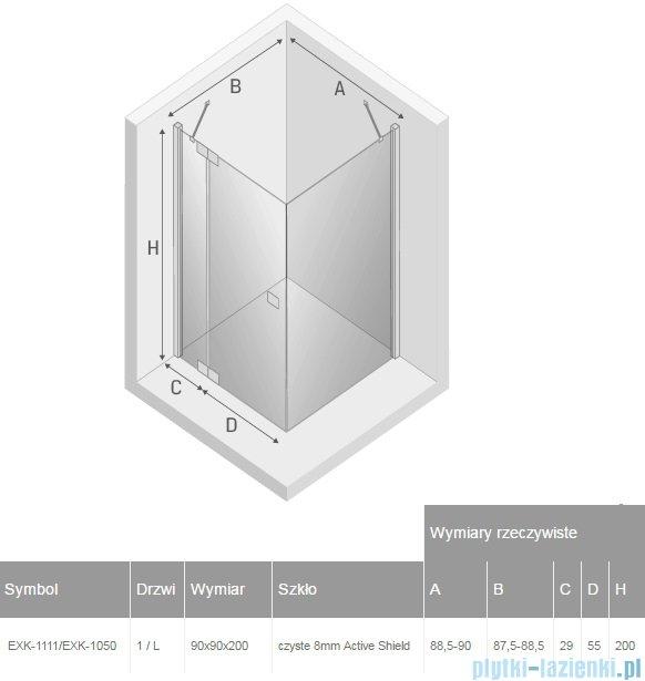 New Trendy Kamea kabina 90x90x200cm lewa przejrzyste EXK-1111/EXK-1050