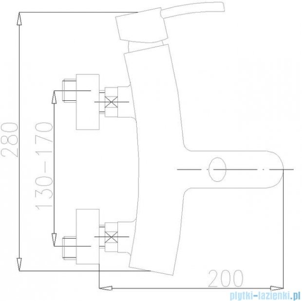 KFA Diament bateria wannowa, kolor chrom 4104-010-00