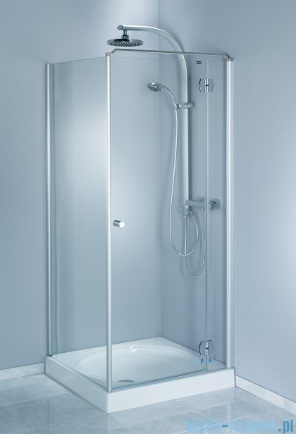 Aquaform Sol drzwi kabinowe do montażu ze ścianką De Luxe 80cm szkło przejrzyste prawe 06049