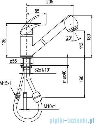 KFA NEFRYT Bateria zlewozmywakowa stojąca chrom 503-110-00