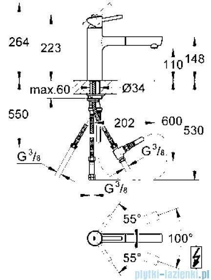 Grohe Concetto jednouchwytowa bateria zlewozmywakowa DN 15 31214001