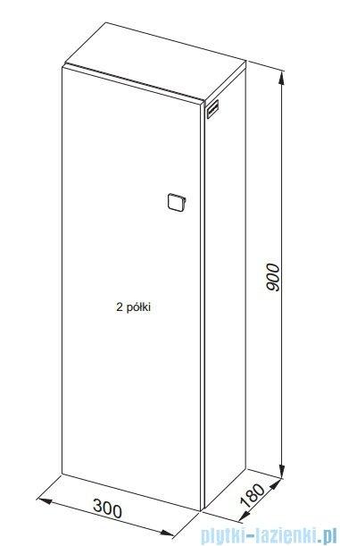 Aquaform Flex szafka wisząca prostokątna 90 biała 0410-640108
