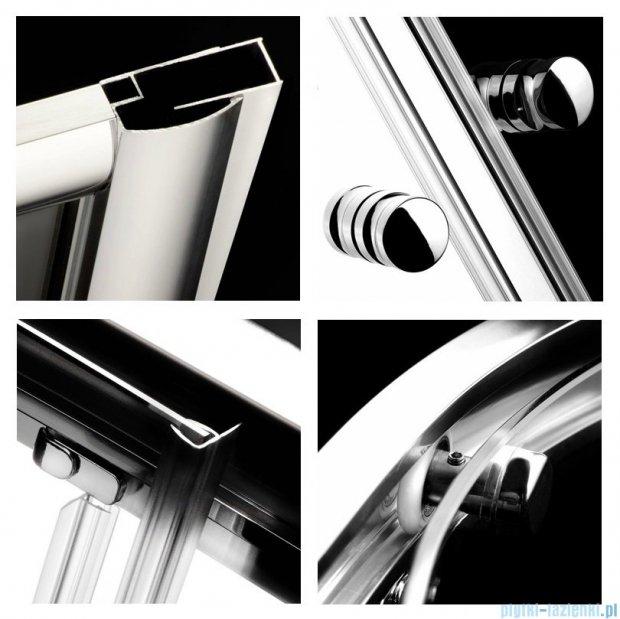 Radaway Classic C Kabina prysznicowa kwadratowa z drzwiami przesuwnymi 80x80 szkło fabric profile białe 30060-04-06