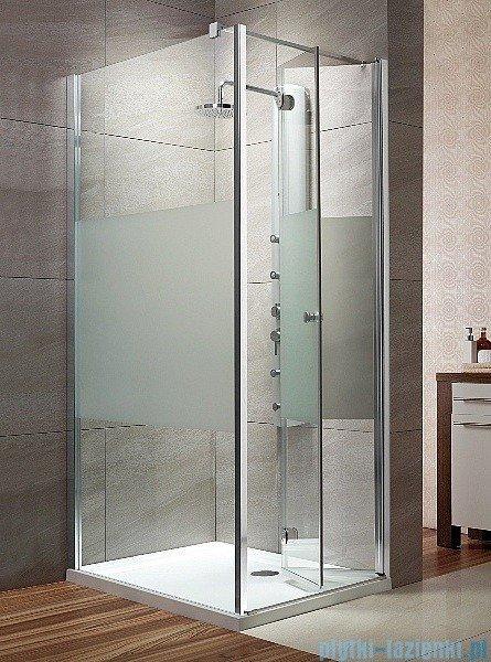 Radaway Eos KDJ-B kabina prysznicowa 80x100 prawa szkło przejrzyste + brodzik Doros D + syfon 37443-01-01NR