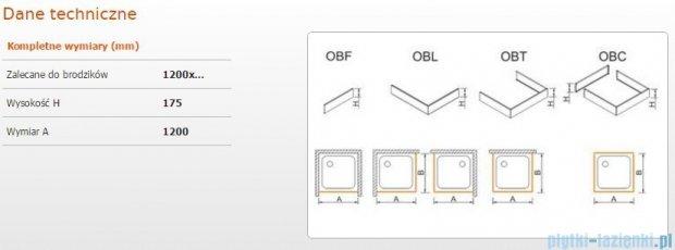 Sanplast obudowa frontowa do brodzika OBF 120x17,5cm biała 625-403-0350-01-000