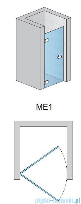 SanSwiss Melia ME1 drzwi lewe wymiary specjalne do 100cm przejrzyste ME1GSM11007