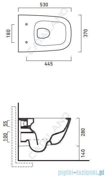 Catalano New Light Wc 53 NEWFLUSH miska WC wiszący 53x37cm biały 1VSLIR00