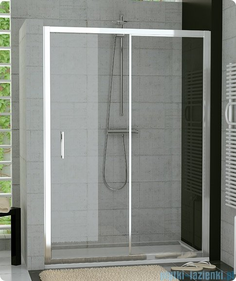 SanSwiss Top-Line TOPS2 Drzwi 2-częściowe rozsuwane 140cm profil połysk TOPS214005007