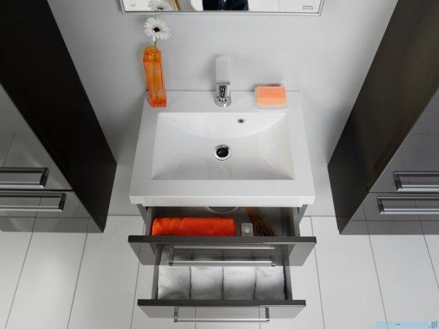 Antado Spektra szafka z umywalką, wisząca 50x39x40 szary połysk wolfram grey FDF-C-442/5/2GT-56 + UMMC-500x390