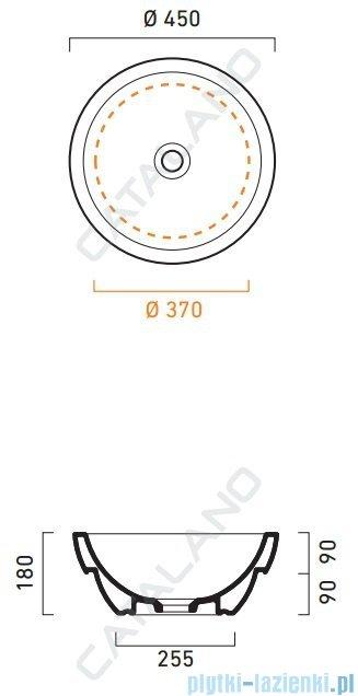 Catalano Sfera Pietraserena 45 umywalka nablatowa 45x45  antracyt 145ACPS