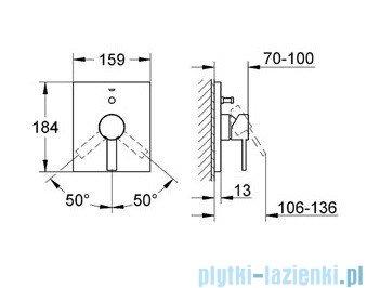Grohe Allure jednouchwytowa bateria wannowa chrom 19315000