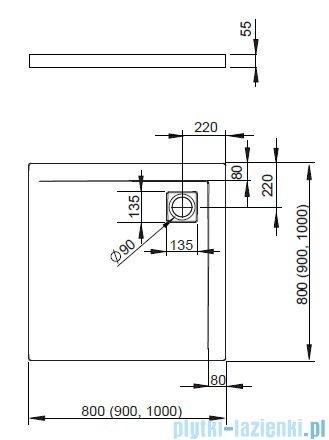 Radaway Eos KDS kabina prysznicowa 100x100 lewa szkło przejrzyste + Brodzik Argos C + Syfon 37552-01-01NL
