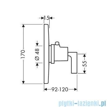 Hansgrohe Axor Citterio Bateria termostatyczna podtynkowa z uchwytem jednoramiennym 39710000